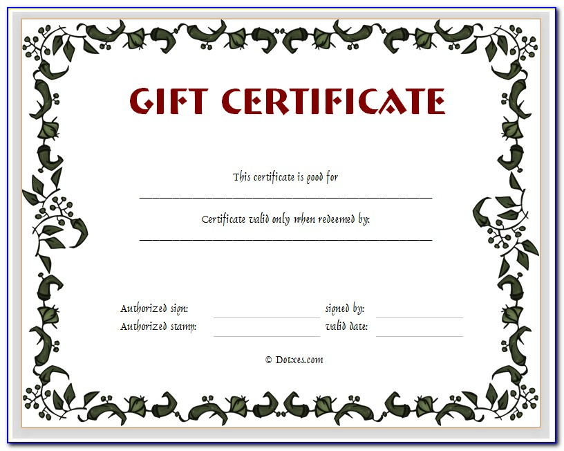 Blank Certificate Templates With Border