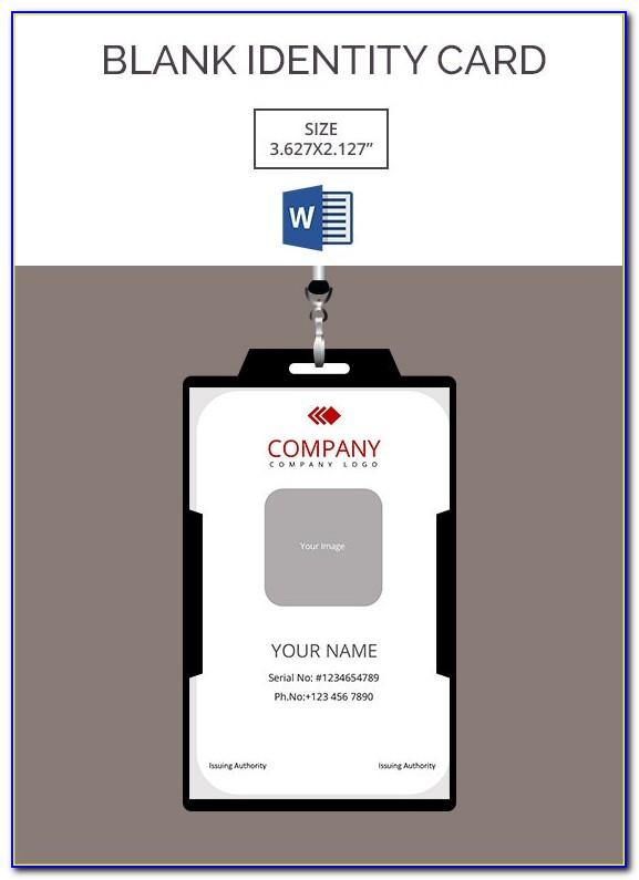 Blank Id Card Template Printable