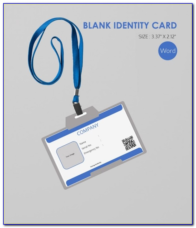 Blank Id Cards Templates