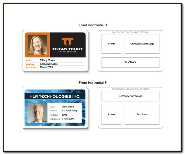 Blank Military Id Card Template