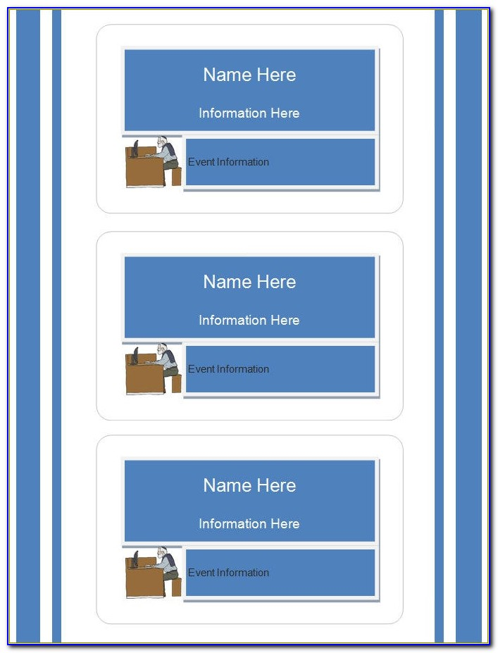 Blank School Id Card Template