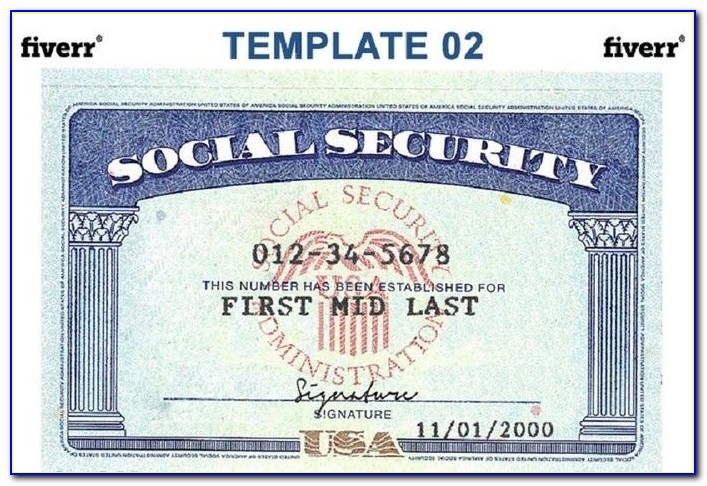 Blank Social Security Card Template Download