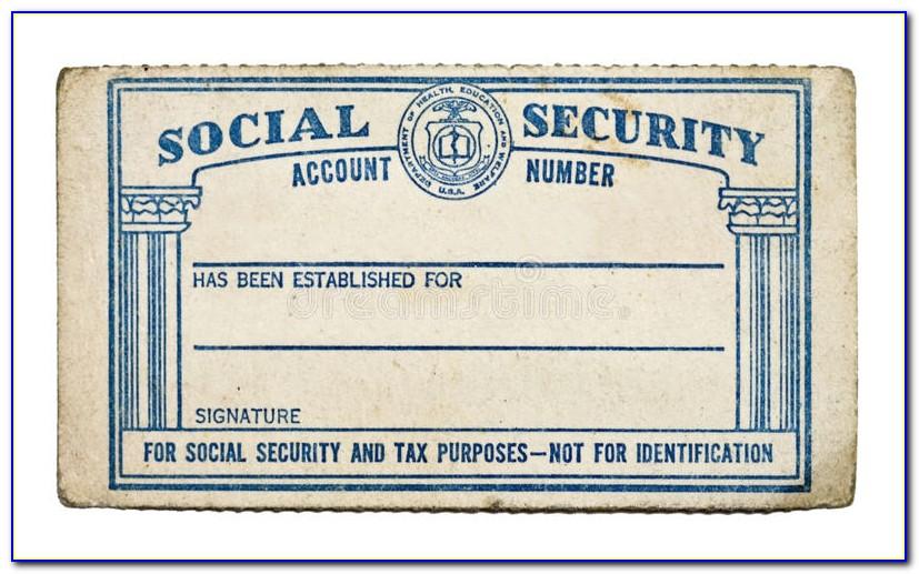 Blank Social Security Card Template Pdf