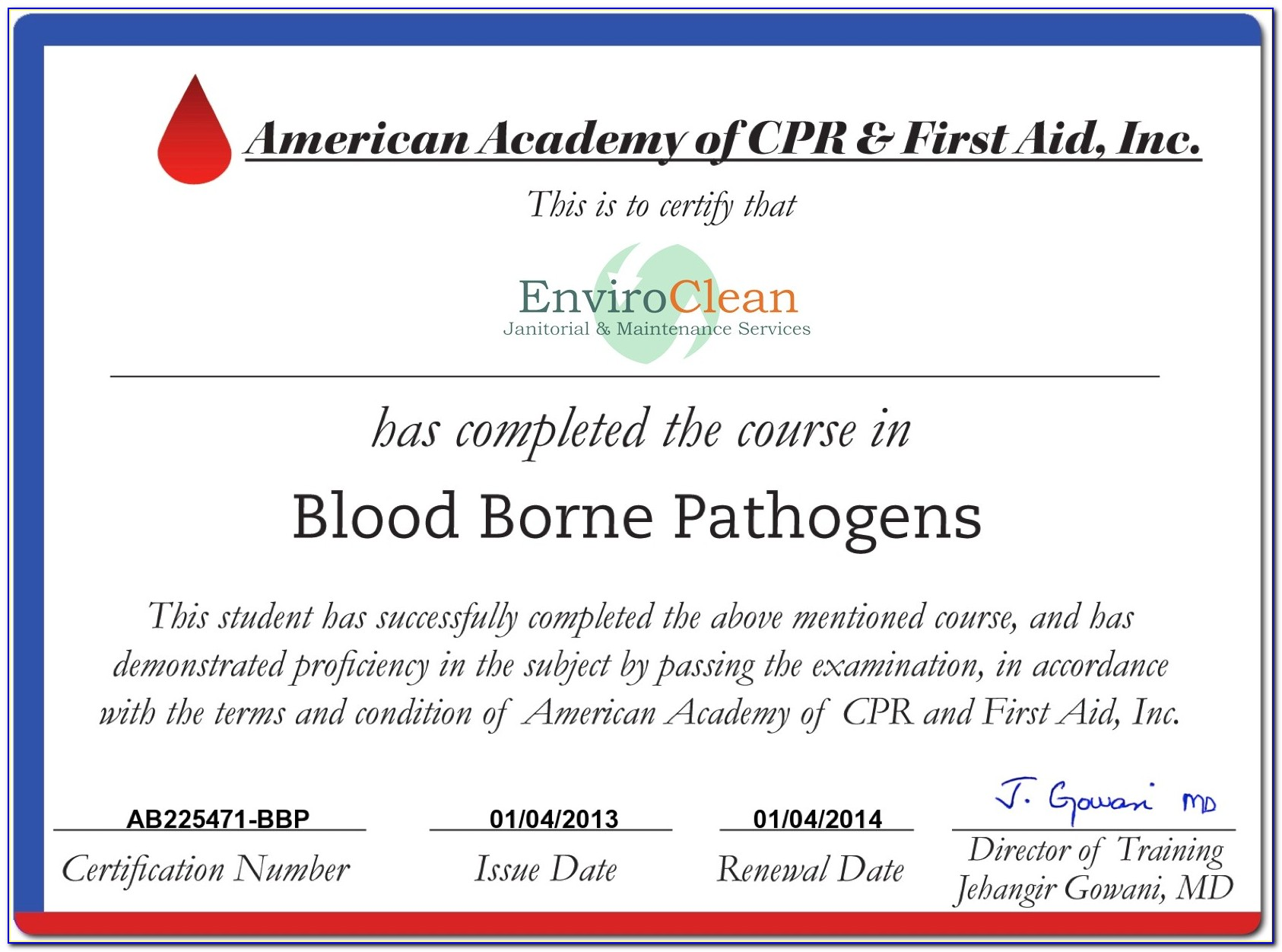 Bloodborne Pathogens Certification Canada
