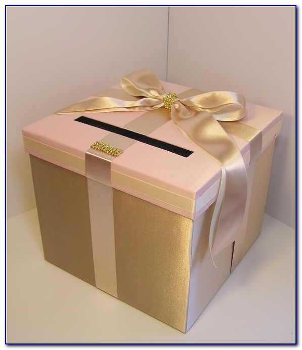 Blush Pink Wedding Card Box