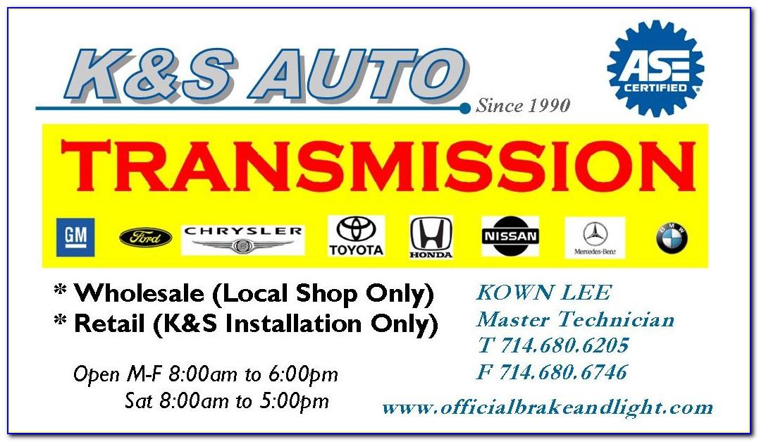 Brake And Light Adjustment Certificate Inspection