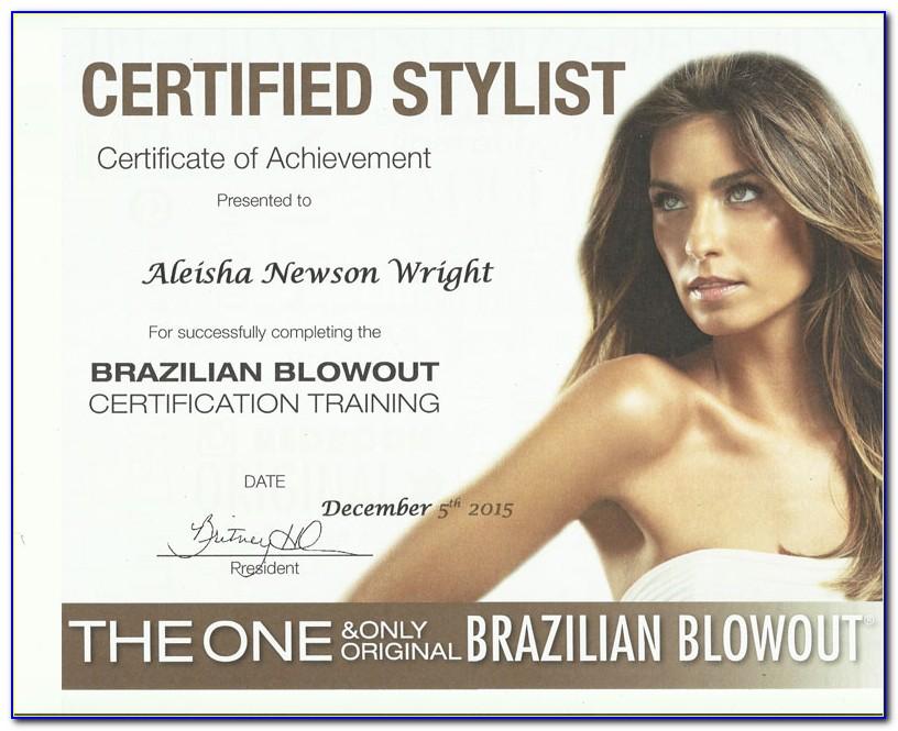 Brazilian Blowout Certification Answers