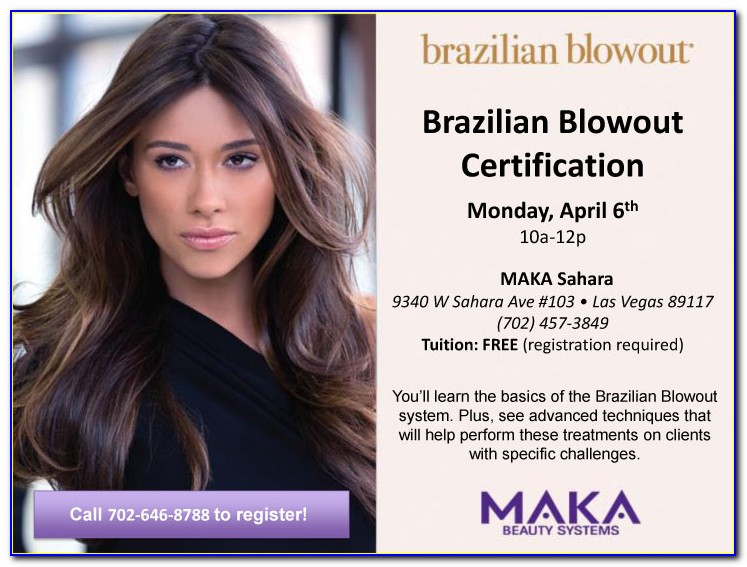 Brazilian Blowout Certification Classes