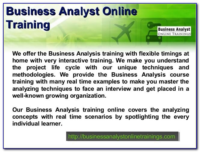 Business Analyst Certification Online University