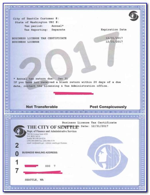 Business Tax Certificate Renewal