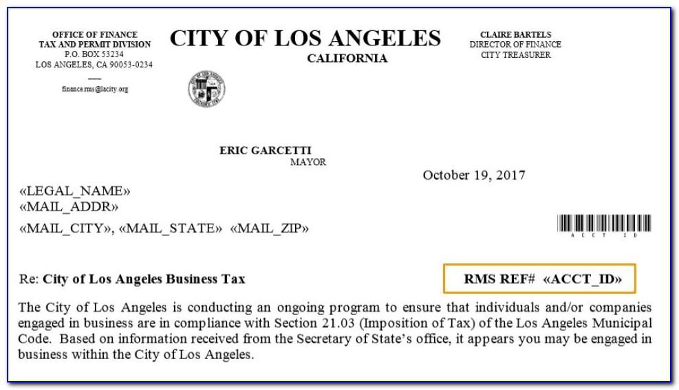 Business Tax Certificate San Jose