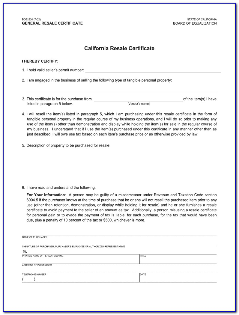 California Resale Certificate Verification By Name