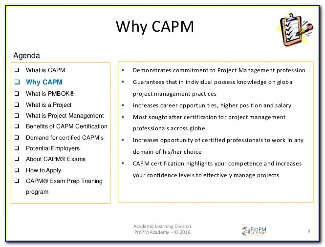 Capm Certification Salary Uk