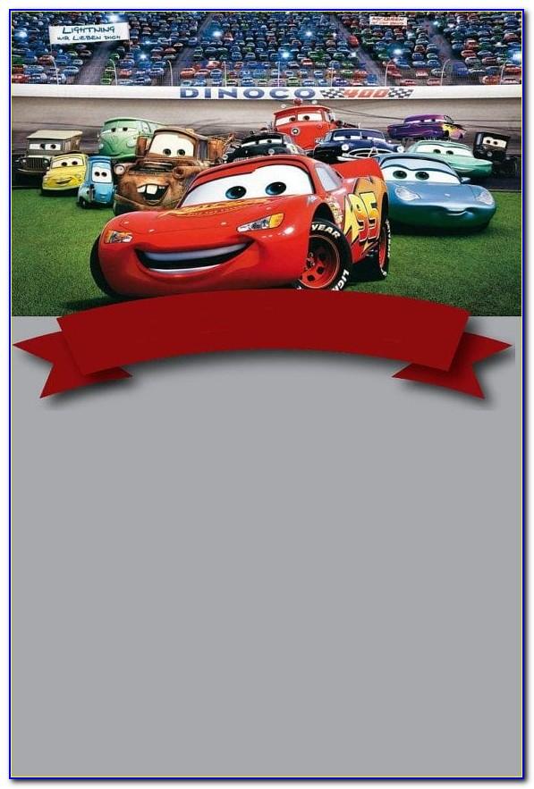 Car Theme Invitation Card Template