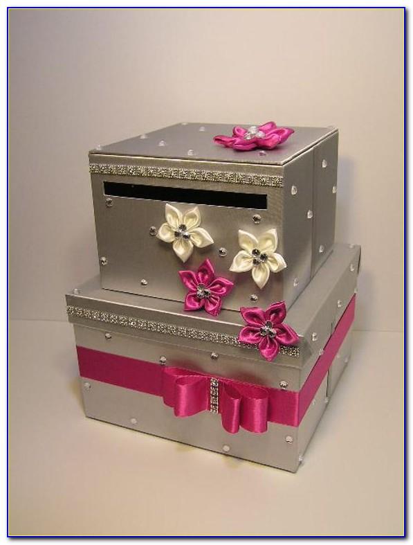 Card Box Wedding Pink Gold