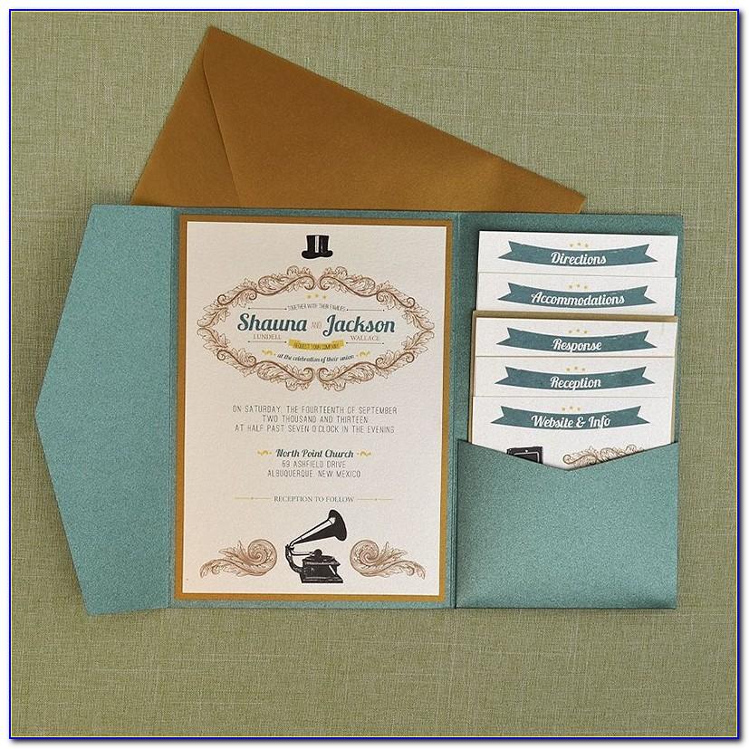 Cards And Pockets Acrylic Invitations