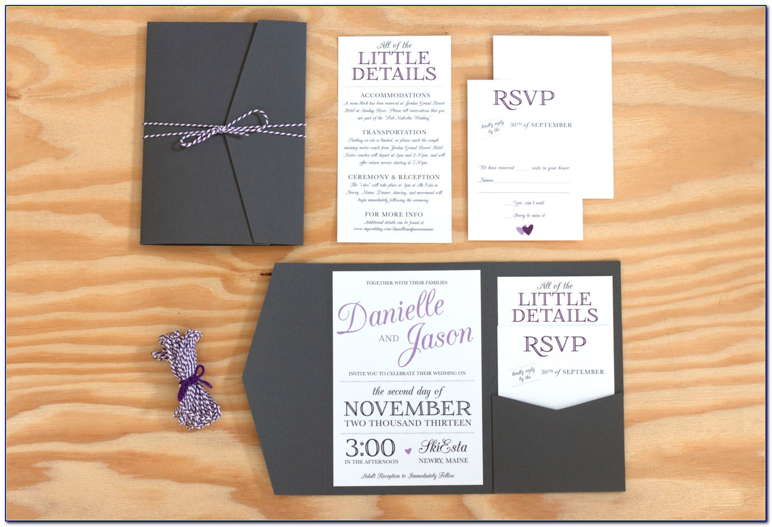 Cards And Pockets Wedding Invitations