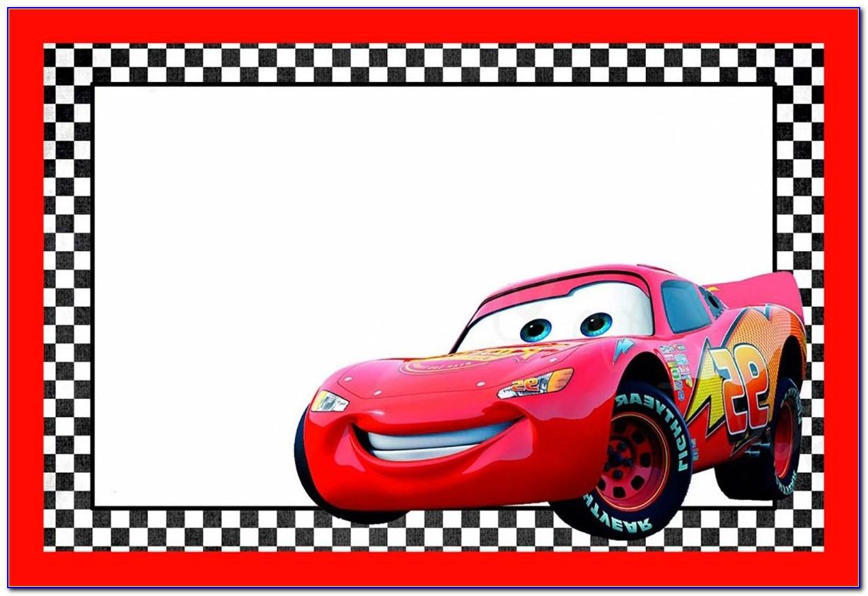 Cars Invitation Card Layout