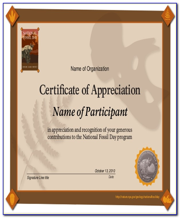 Certificate Of Appreciation Sample Content