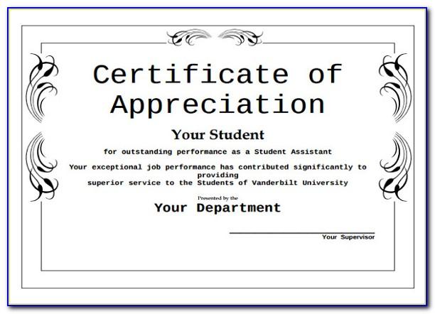Certificate Of Appreciation Sample For Judges