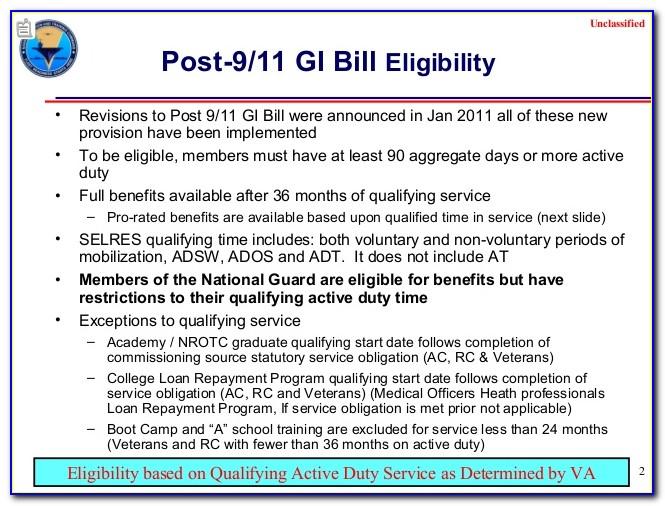 Certificate Of Eligibility Gi Bill Status