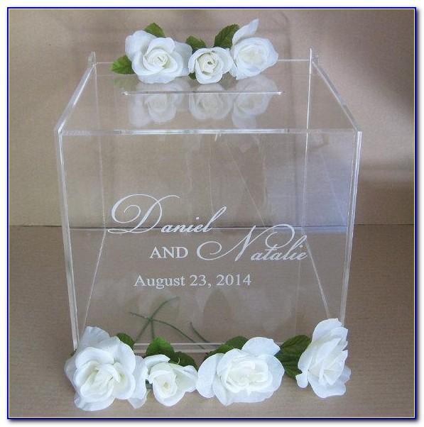 Cheap Acrylic Wedding Card Box