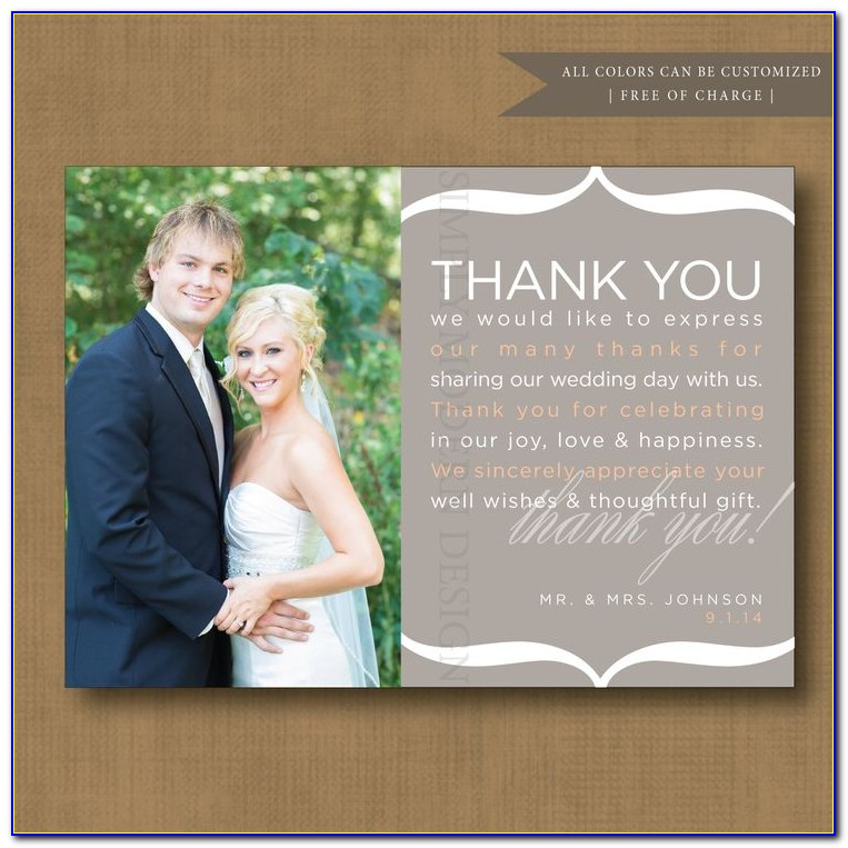 Cheap Personalised Wedding Thank You Cards