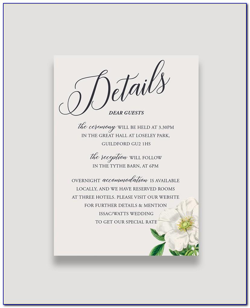 Cheap Wedding Enclosure Cards
