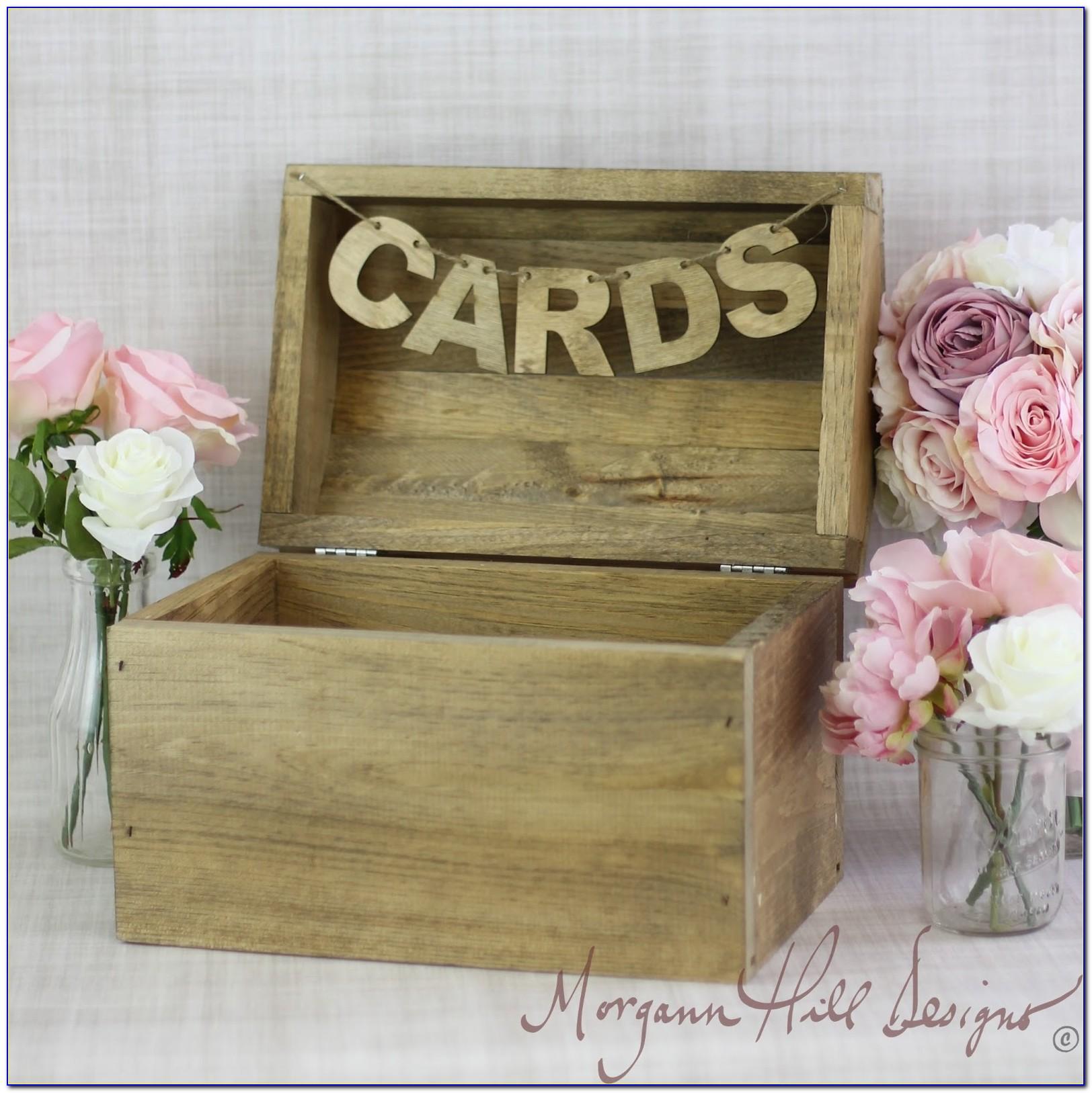 Cheap Wood Wedding Card Box