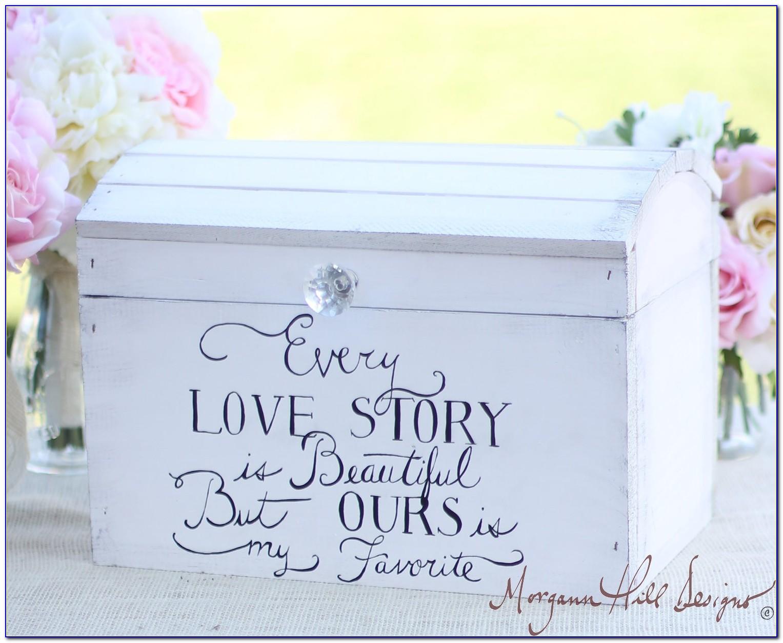 Cheap Wooden Wedding Card Box