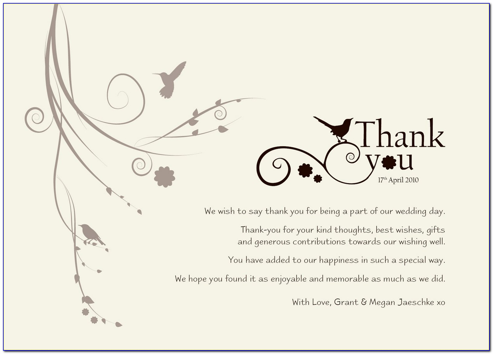 Cheapest Wedding Thank You Cards
