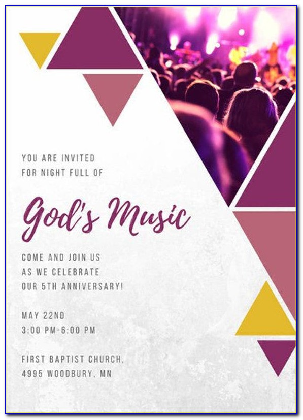 Church Invitation Cards Designs