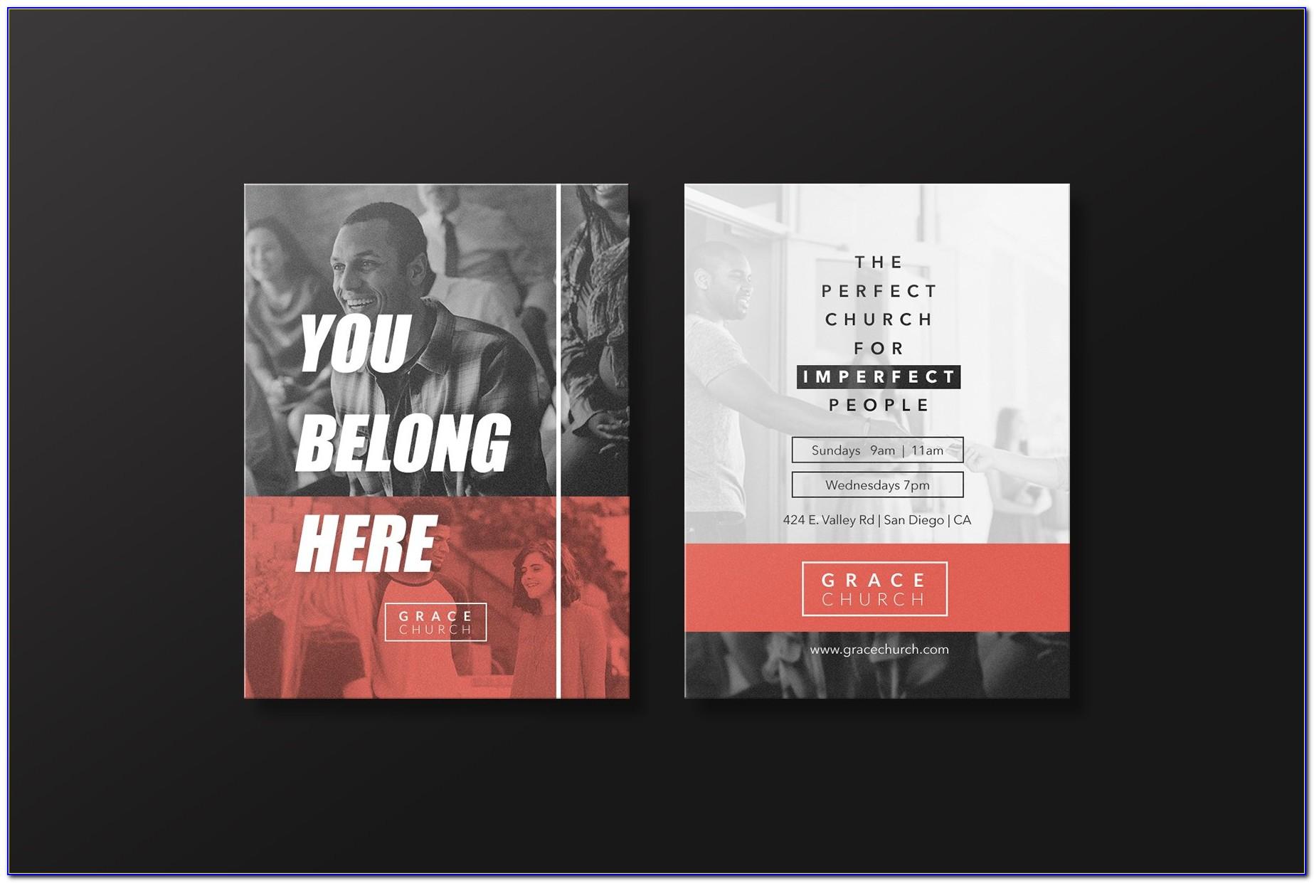 Church Invitation Cards Samples