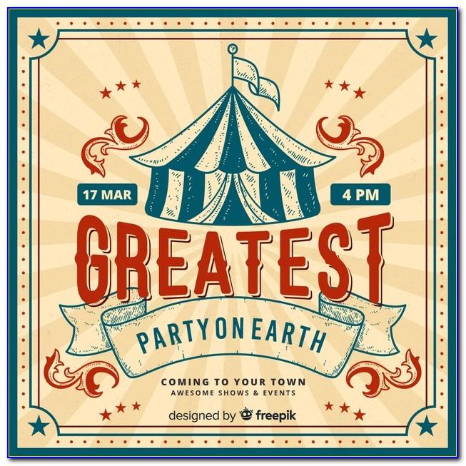 Circus Birthday Invitation Card