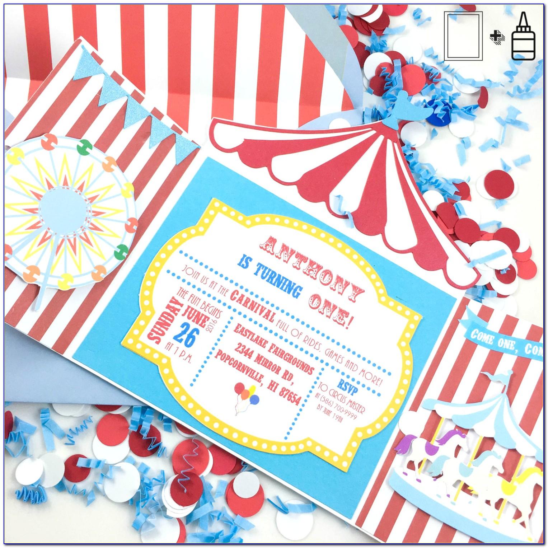 Circus Carnival Invitation Card