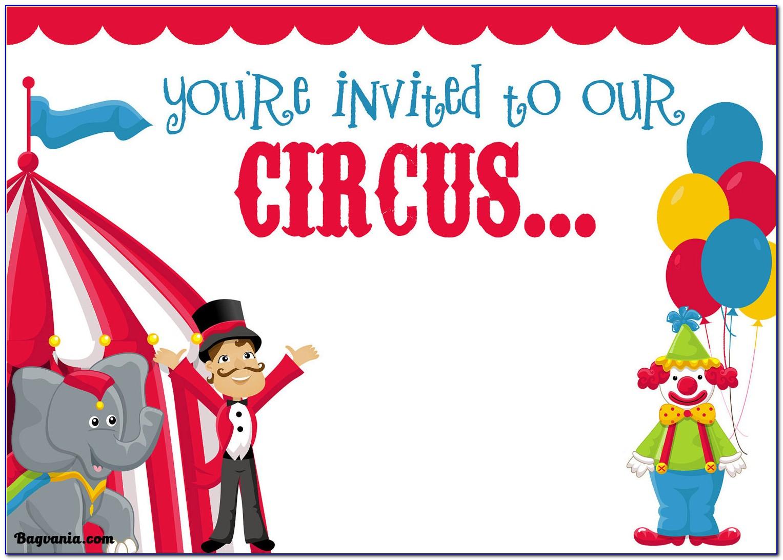 Circus Invitation Card