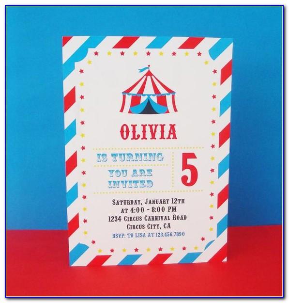 Circus Party Invitation Card