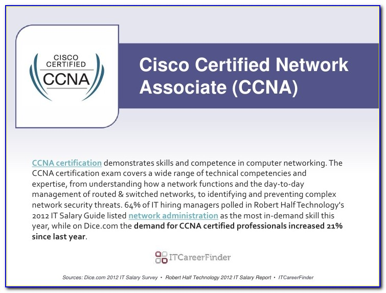 Cisco Certification Salary South Africa