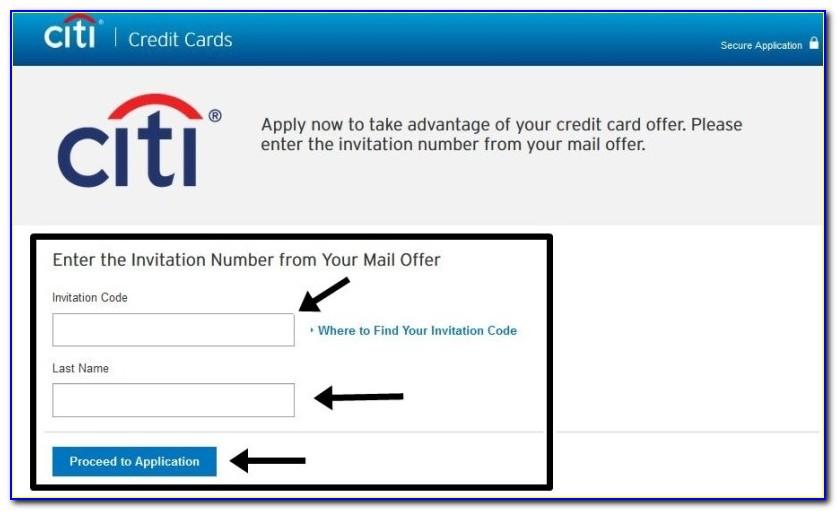 Citi Card Invitation To Apply