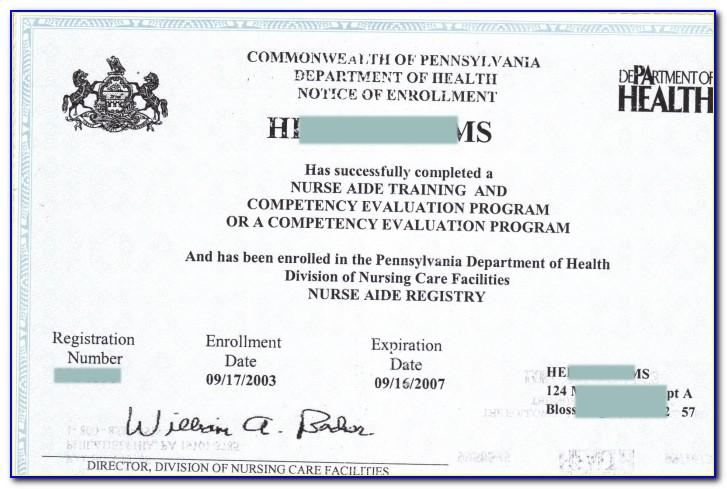 Cna Certification Lookup Ca