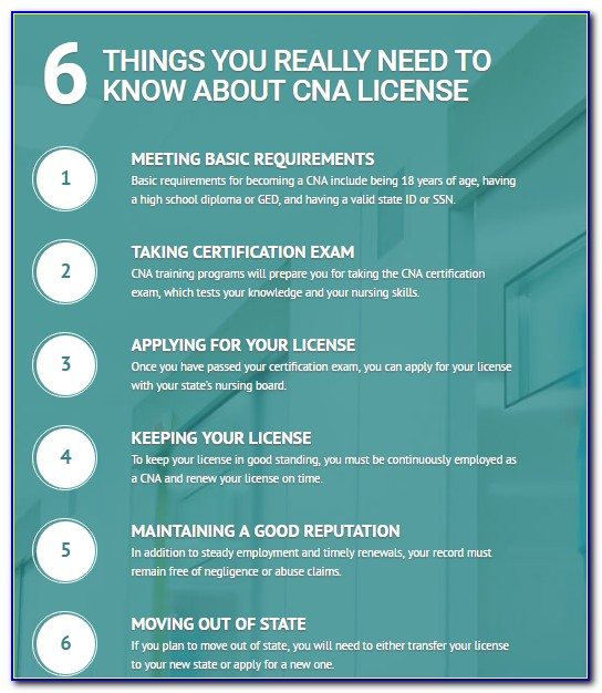 Cna Certification Lookup Ct