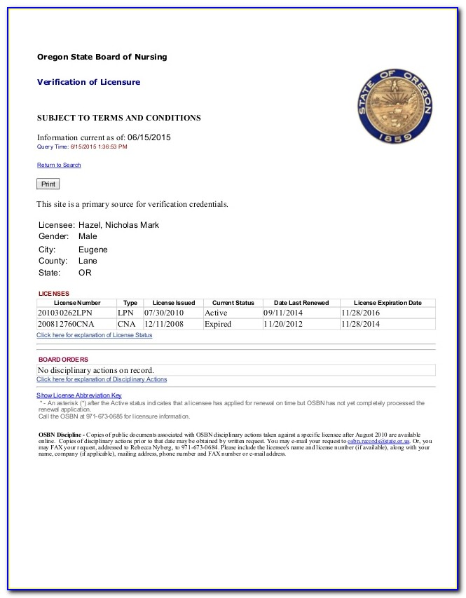 Cna Certification Lookup Ga