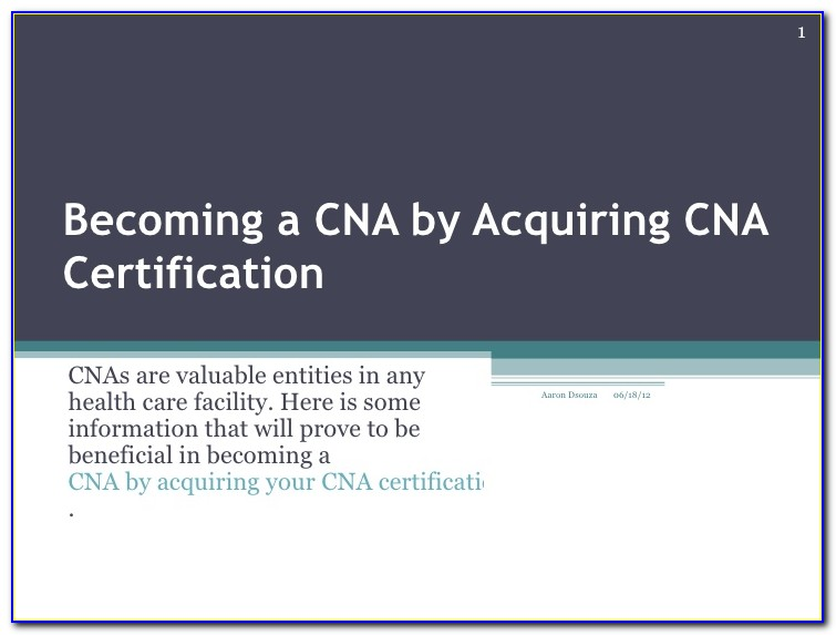Cna Certification Lookup Indiana