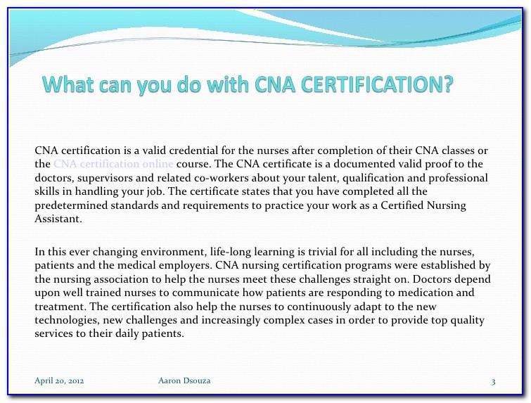 Cna Certification Lookup Kansas