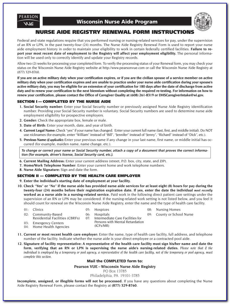 Cna Certification Renewal Ny