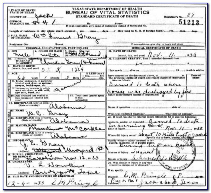 Collin County Birth Certificate Request Form