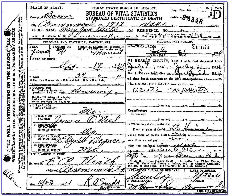 Collin County Texas Birth Certificate