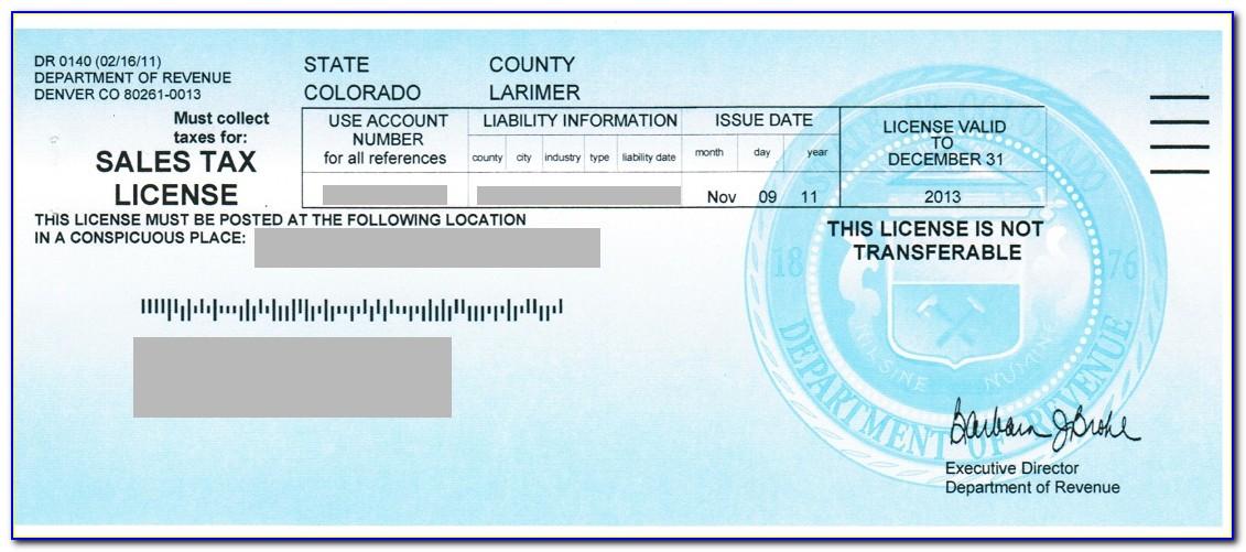 Colorado Resale Certificate Pdf