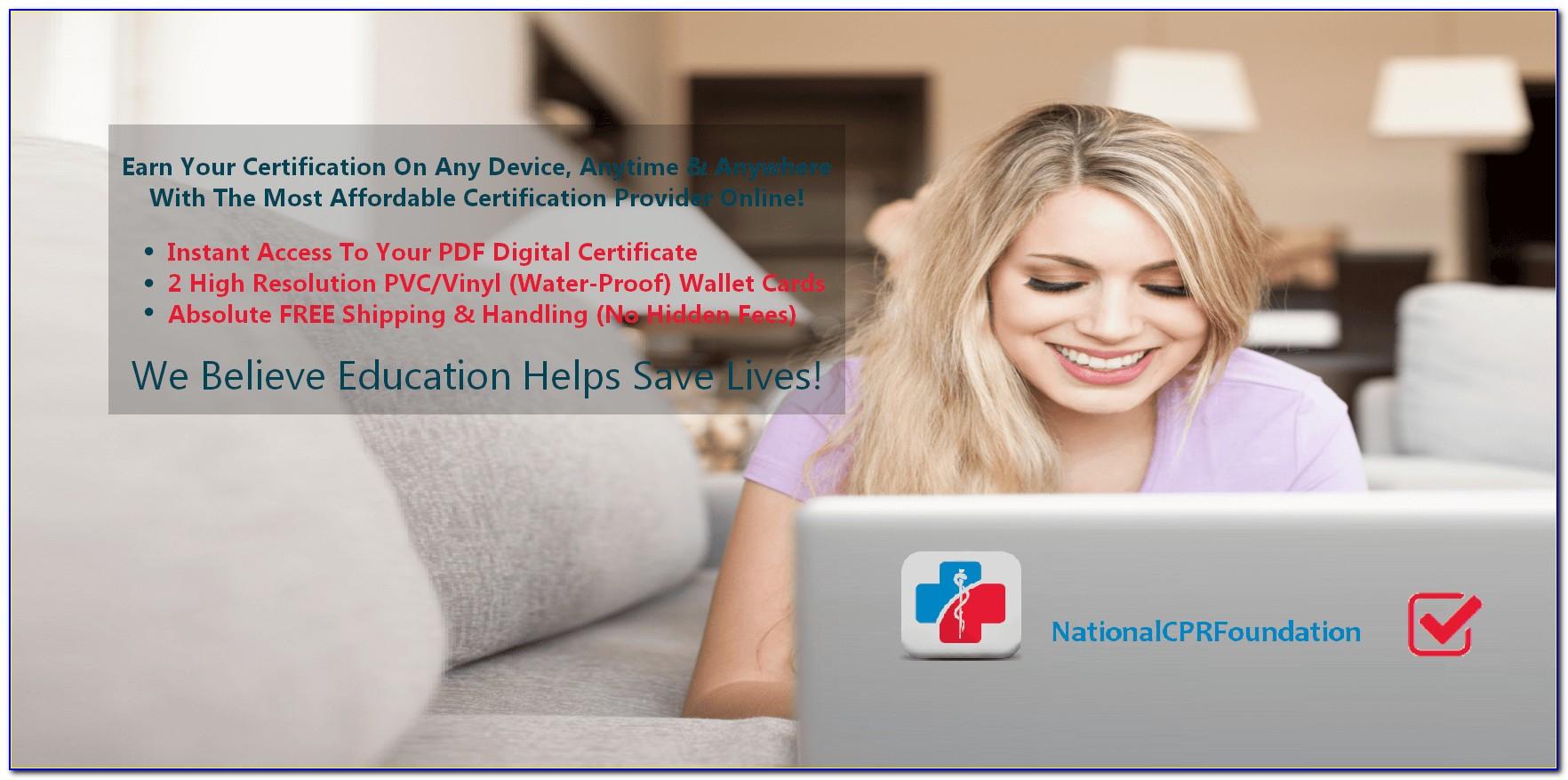 Cpr Bls Certification Renewal Online