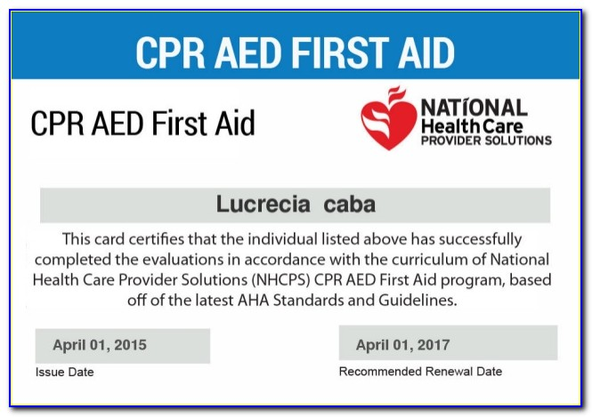 Cpr Certification Lookup By Name